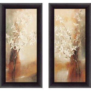 'Misty Orchids I' 2 Piece Framed Print Set by Red Barrel Studio