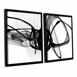 That Energy 2 Piece Framed Painting Print on Wrapped Canvas Set by Wade Logan