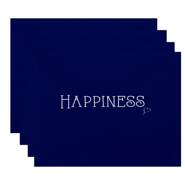 Blanche Happiness Print Placemat (Set of 4) by Latitude Run