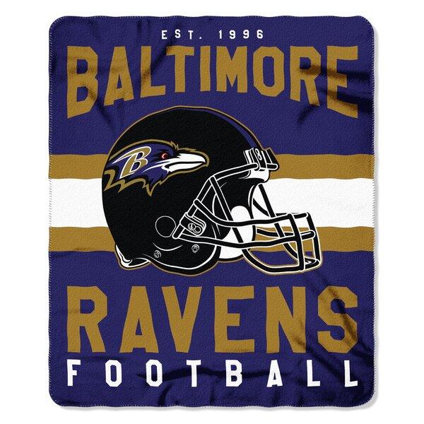 NFL Baltimore Ravens Printed Fleece Throw by Northwest