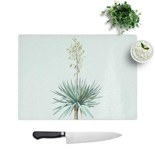Schneidebrett Adams Needle Yucca Flowers aus Hartglas East Urban Home Größe: 28|5 cm B x 20 cm L | Garten > Pflanzen > Pflanzen | East Urban Home