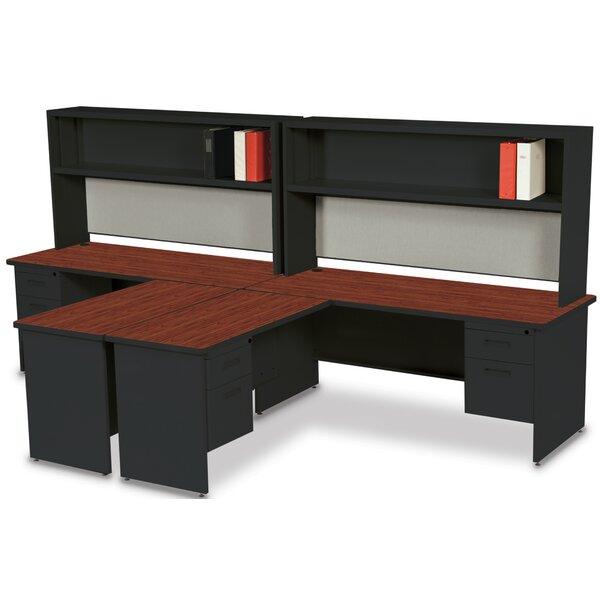 Crivello L-Shape Executive Desk with Hutch by Red Barrel Studio