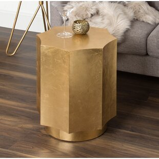 Noemi Scallop Accent End Table