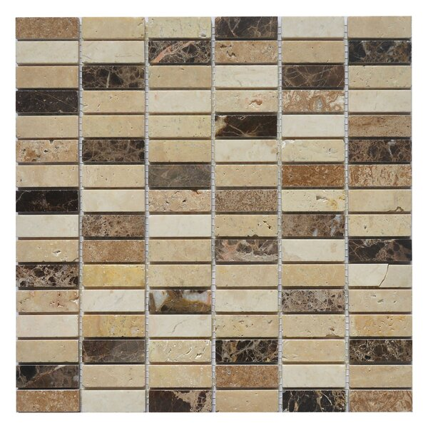 Nevada Rice 0.63 x 2 Marble Mosaic Tile in Rice Yellow/Brown by Matrix Stone USA