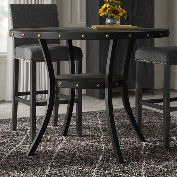 Crooke Round Wood Counter Height Dining Table by Greyleigh