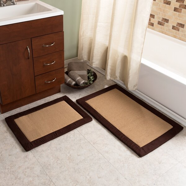 Emmaleigh 2 Piece Fleece Memory Foam Bath Rug Set by Red Barrel Studio