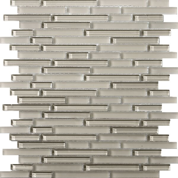 Lucente 12 x 13 Glass Linear Mosaic Tile in Morning Fog by Emser Tile