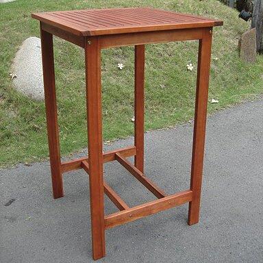 Floria Teak Bar Table by Red Barrel Studio