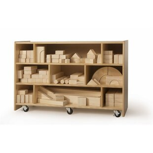 Medium 9 Compartment Shelving Unit With Wheels