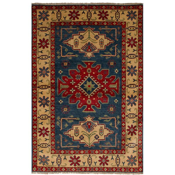 One-of-a-Kind Sely Hand-Knotted Wool Navy Blue Area Rug by Isabelline