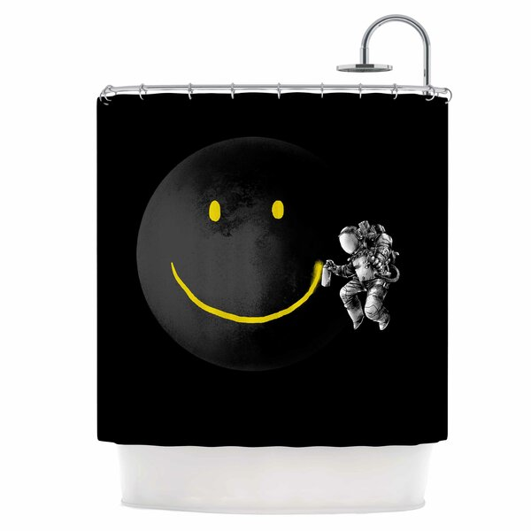 Make a Smile Shower Curtain by East Urban Home