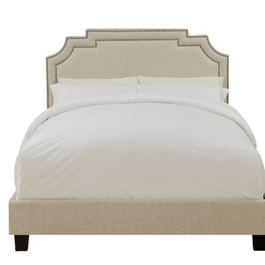 Galway Tiered Clipped Corner Queen Upholstered Panel Bed