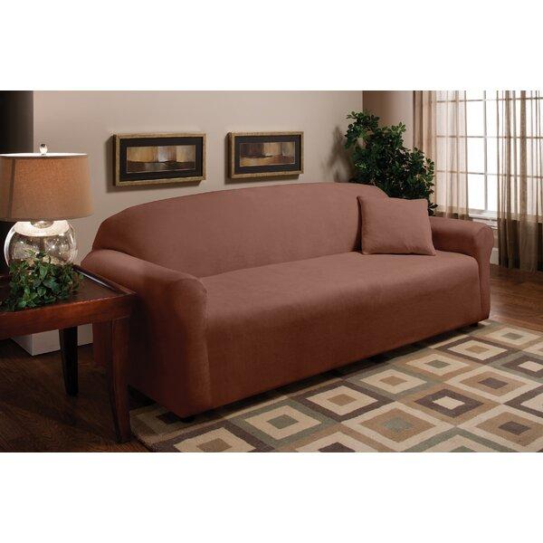 Stretch Microfleece Box Cushion Sofa Slipcover by Madison Home