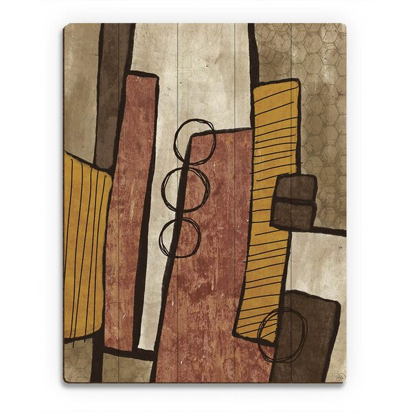 Hive Stack Brown Painting Print on Plaque by Click Wall Art