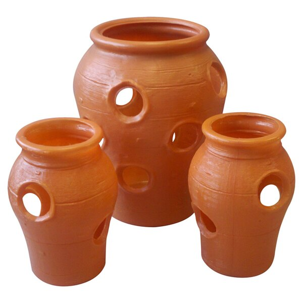 3-Piece Plastic Pot Planter Set by Union Products