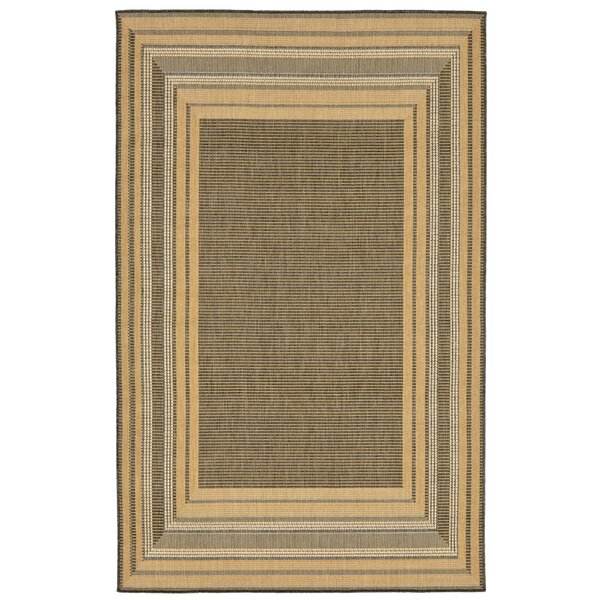 Clatterbuck Etched Gray Indoor/Outdoor Area Rug by Highland Dunes
