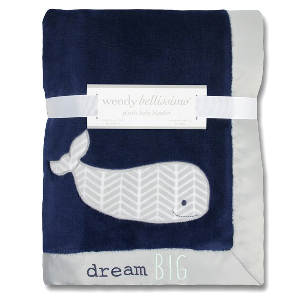Landon Plush Whale Throw Blanket by Wendy Bellissimo