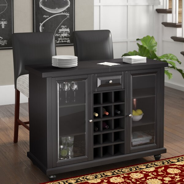 Shady Dale Bar Cabinet With Wine Storage By Three Posts.