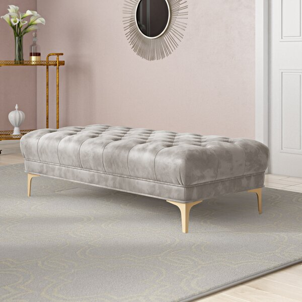 Skye Upholstered Bench By Everly Quinn