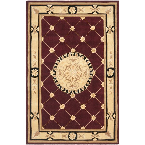 Naples Hand-Tufted Wool Burgundy/Ivory Area Rug by Safavieh