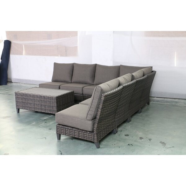 Rebeca Armless 8 Piece Sectional Seating Group with Cushions by Bayou Breeze
