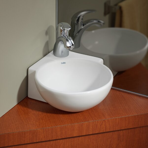 Vitreous China 12 Corner Bathroom Sink by Cheviot Products