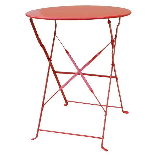 Tennessee Folding Bistro Table by Rosecliff Heights