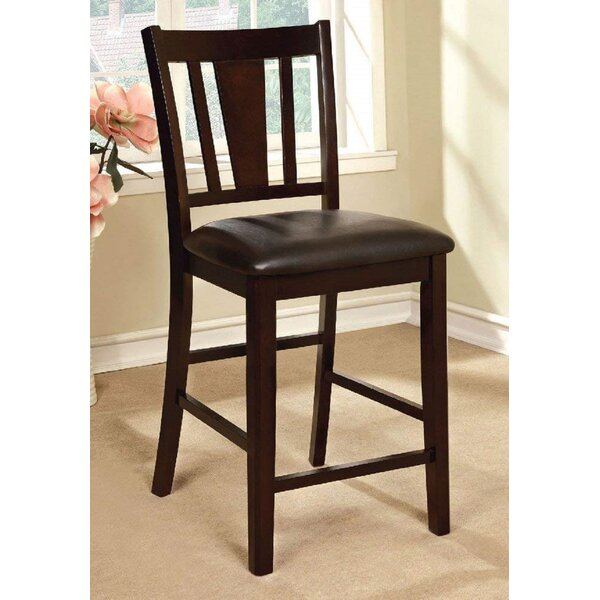 Kisag Upholstered Slat back Side Chair in Espresso (Set of 2) by Latitude Run Latitude Run