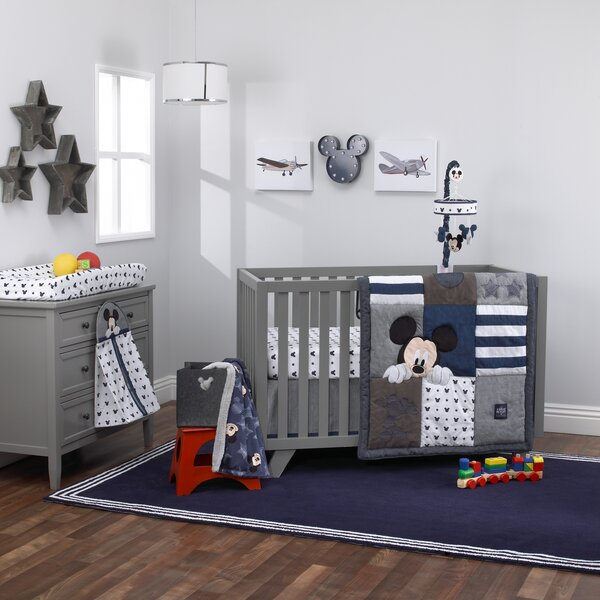 Disney Mickey Mouse Hello World 4 Piece Crib Beddi