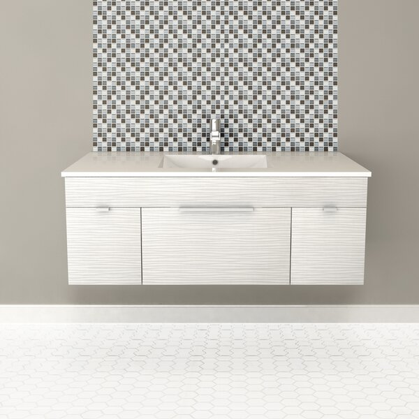 Textures 48 Wall Mounted Single Bathroom Vanity Set by Cutler Kitchen & Bath