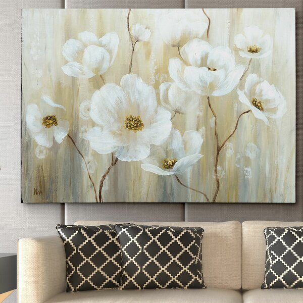 Shimmering Blossoms by Nan Painting Print on Wrapped Canvas by Wexford Home