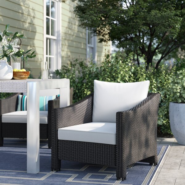Portola Wicker Patio Chair with Cushions (Set of 2) by Sol 72 Outdoor