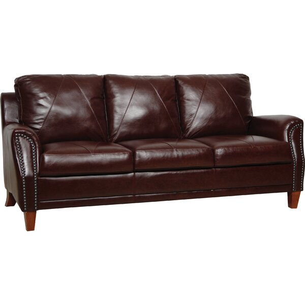 Buco Leather Sofa by Williston Forge