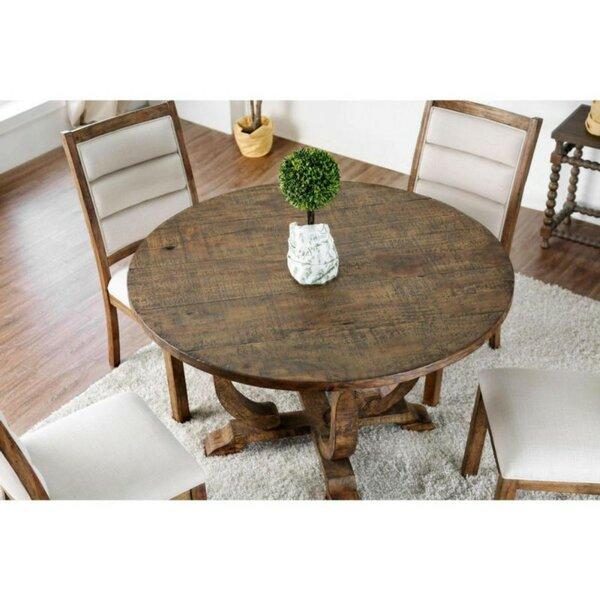 Dufresne Rustic Round Pub Table by Gracie Oaks Gracie Oaks