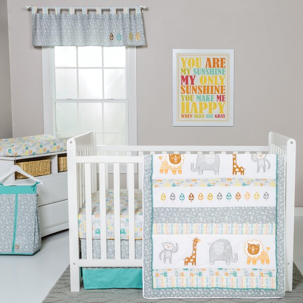 Lullaby Jungle 6 Piece Crib Bedding Set by Trend Lab