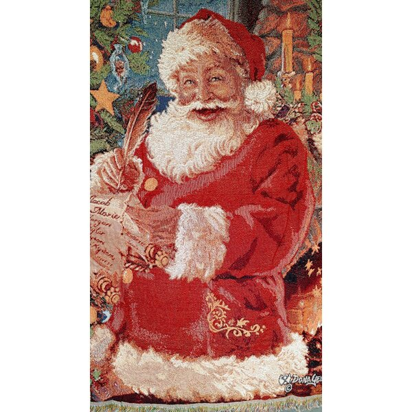 Old St. Nick Tapestry Throw by Tache Home Fashion
