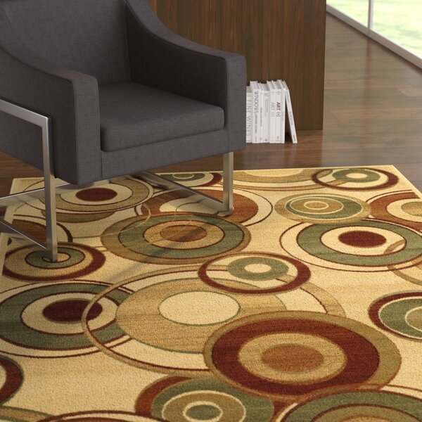 Chani Ivory Area Rug by Ebern Designs
