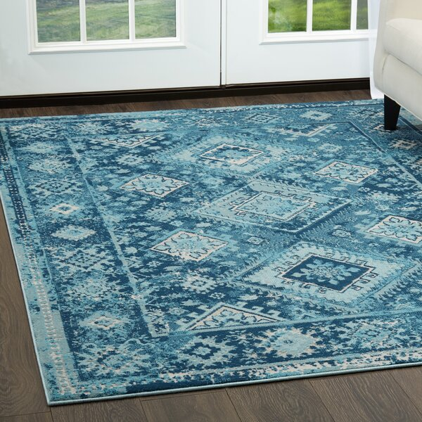 Mahn Tribal Blue Area Rug by Union Rustic