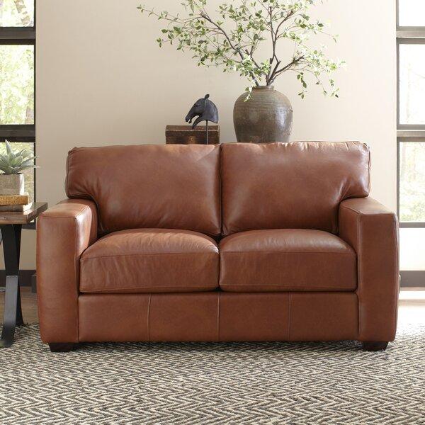 Pratt Leather Loveseat by Birch Lane™