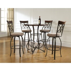 Steele 5 Piece Pub Table Set by Andover Mills
