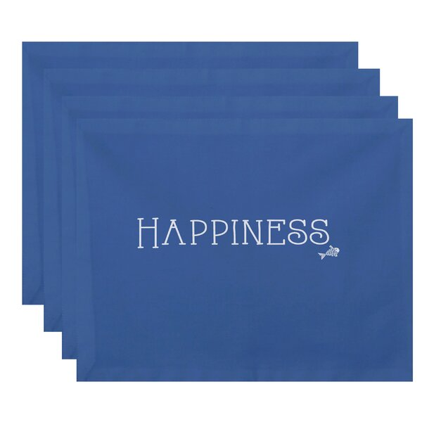 May Coastal Happiness Print Placemat (Set of 4) by Latitude Run