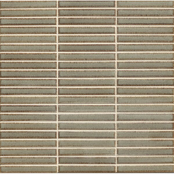 Hinterland 0.5 x 4 Porcelain Mosaic Tile in River Rock by Grayson Martin