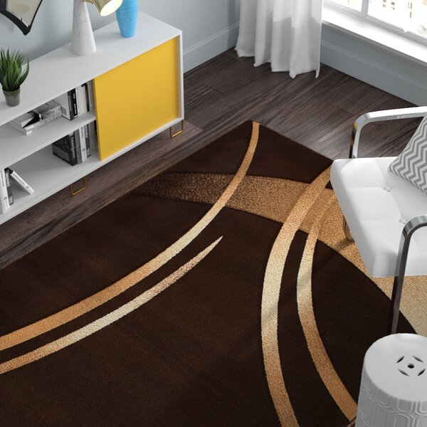 Rene Dark Brown Rug by Zipcode Design
