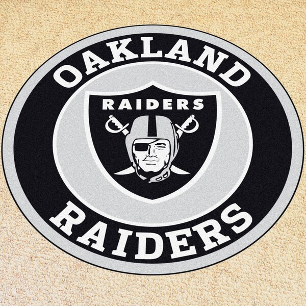 NFL Oakland Raiders Roundel Mat by FANMATS