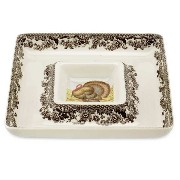 Woodland Square Chip & Dip Tray by Spode