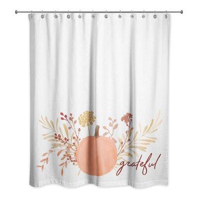Tempest Grateful Harvest Pumpkin Shower Curtain