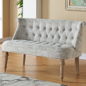 Hartsville Fabric Button Tufted Settee by Ophelia & Co.