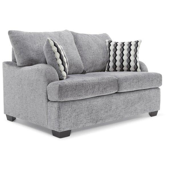 True Seating Copeland Loveseat Gray by TrueSeating TrueSeating