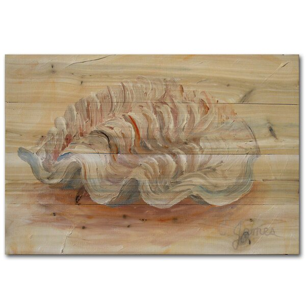 Sea Shell 3 Painting Print Plaque by WGI-GALLERY