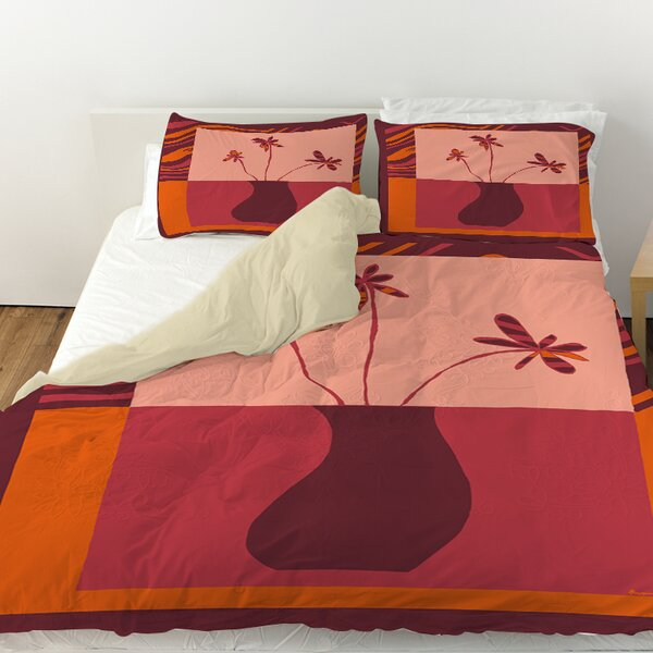 Minimalist Flowers 3 Duvet Cover by Manual Woodworkers & Weavers